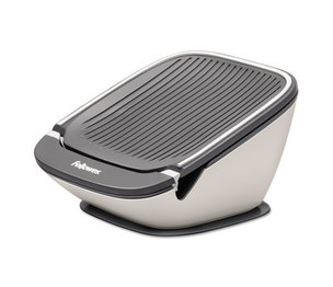 Fellowes, Inc 9384801 I-Spire Series Tablet SuctionStand, 5 x 5 3/4 x 3 3/8, White/Gray by FELLOWES MFG. CO.
