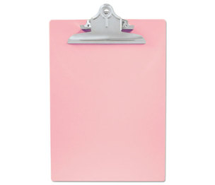 "Saunders Mfg. Co. Inc 21800 Recycled Plastic Clipboards, 1"" Capacity, Holds 8 1/2w x 12h, Pink by SAUNDERS MFG. CO., INC."