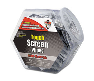 FALCON SAFETY PRODUCTS, INC DMHJ Touch Screen Wipes, 5 x 6, 200 Individual Foil Packets by FALCON SAFETY