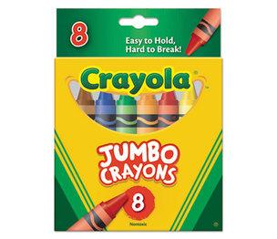 BINNEY & SMITH / CRAYOLA 520389 So Big Crayons, Large Size, 5 x 9/16, 8 Assorted Color Box by BINNEY & SMITH / CRAYOLA