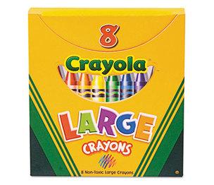 BINNEY & SMITH / CRAYOLA 520080 Large Crayons, Tuck Box, 8 Colors/Box by BINNEY & SMITH / CRAYOLA