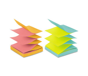 3M R330-N-ALT Pop-up Refill, 4 Alternating Capetown Colors, 3 x 3, 100/Pad, 12 Pads/Pack by 3M/COMMERCIAL TAPE DIV.
