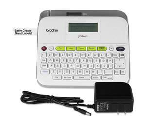 Brother Industries, Ltd PTD400AD PTD400D Versatile Label Maker with AC Adapter, White by BROTHER INTL. CORP.