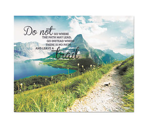 "Advantus Corporation 78092 ""Leave a Trail"" Vintage Canvas Motivational Print, 22 x 28 by ADVANTUS CORPORATION"