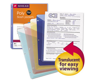 SMEAD MANUFACTURING COMPANY 89505 Organized Up Poly Slash Jackets, Letter, Assorted, 5/Pack by SMEAD MANUFACTURING CO.