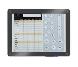 ICEBERG ENTERPRISES, LLC 31130 Clarity Custom Print Glass Dry Erase Board, 13 1/2 x 11, Charcoal Frame by ICEBERG ENTERPRISES