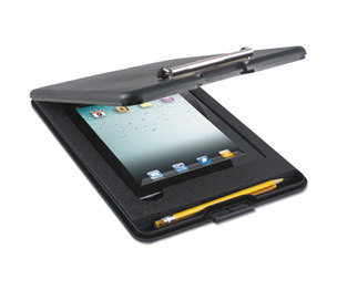 Saunders Mfg. Co. Inc 65558 SlimMate Storage Clipboard with iPad Air Compartment, Black by SAUNDERS MFG. CO., INC.