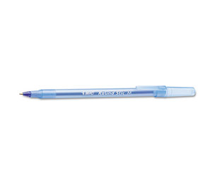 BIC GSM609-BE Round Stic Xtra Precision/Xtra Life Ballpoint, Blue Ink, 1mm, Trans Brl, Medium by BIC CORP.