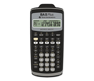 TEXAS INSTRUMENTS INC. BAIIPLUS BAIIPlus Financial Calculator, 10-Digit LCD by TEXAS INSTRUMENTS