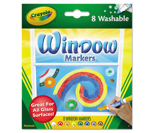 BINNEY & SMITH / CRAYOLA 588165 Washable Window FX Markers, Conical Tip, Assorted Colors, 8/Set by BINNEY & SMITH / CRAYOLA