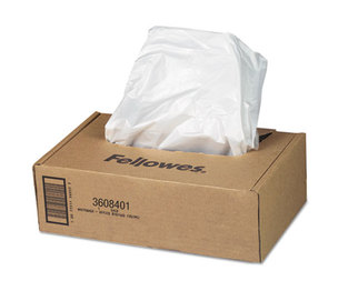 Fellowes, Inc 3608401 AutoMax Shredder Waste Bags, 16-20 gal, 50/CT by FELLOWES MFG. CO.