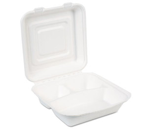 DIXIE FOOD SERVICE ES9CSCOMP EcoSmart Molded Fiber Food Containers, 9 3/107 x 2 3/20, White, 250/Carton by DIXIE FOOD SERVICE