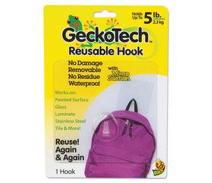 Shurtech Brands, LLC 282314 GeckoTech Reusable Hooks, Plastic, 5 lb Capacity, Clear, 1 Hook by SHURTECH