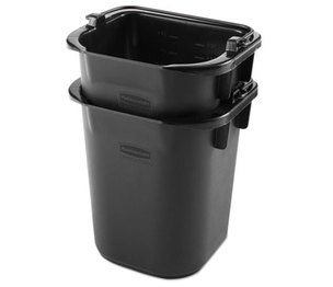 RUBBERMAID COMMERCIAL PROD. 1857378 Executive Heavy Duty Pail, Black, Plastic, 5 Quarts, 9.3Wx7.5Dx8.5H, 4/Crtn by RUBBERMAID COMMERCIAL PROD.