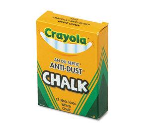 BINNEY & SMITH / CRAYOLA 501402 Nontoxic Anti-Dust Chalk, White, 12 Sticks/Box by BINNEY & SMITH / CRAYOLA