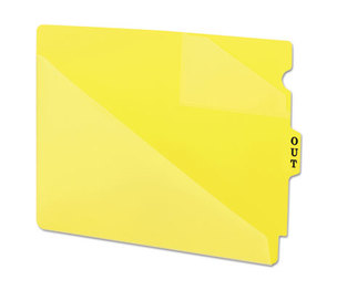 SMEAD MANUFACTURING COMPANY 61966 Out Guides w/Diagonal-Cut Pockets, Poly, Letter, Yellow, 50/Box by SMEAD MANUFACTURING CO.