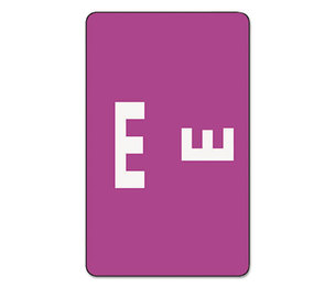 SMEAD MANUFACTURING COMPANY 67175 Alpha-Z Color-Coded Second Letter Labels, Letter E, Purple, 100/Pack by SMEAD MANUFACTURING CO.