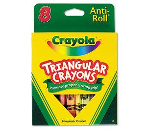 BINNEY & SMITH / CRAYOLA 524008 Triangular Crayons, 8 Colors/Box by BINNEY & SMITH / CRAYOLA