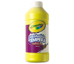 BINNEY & SMITH / CRAYOLA 543115034 Artista II Washable Tempera Paint, Yellow, 16 oz by BINNEY & SMITH / CRAYOLA