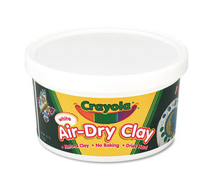 BINNEY & SMITH / CRAYOLA 575050 Air-Dry Clay, White, 2 1/2 lbs by BINNEY & SMITH / CRAYOLA
