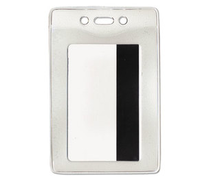 Advantus Corporation 75419 Security ID Badge Holder, Vertical, 2 5/8w x 3 7/8h, Clear, 50/Box by ADVANTUS CORPORATION