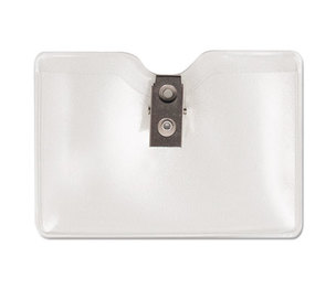 Advantus Corporation 75412 Security ID Badge Holder, Horizontal, 3 1/2w x 2 1/2h, Clear, 50/Box by ADVANTUS CORPORATION