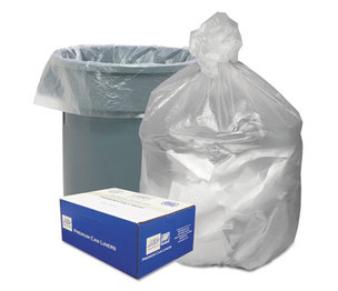 WEBSTER INDUSTRIES GNT4048 High Density Waste Can Liners, 40-45gal, 10 Microns, 40x46, Natural, 250/Carton by WEBSTER INDUSTRIES