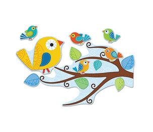 Carson-Dellosa Publishing Co., Inc 110202 Boho Birds Bulletin Board Set, 81 Pieces/Kit by CARSON-DELLOSA PUBLISHING
