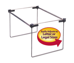 "SMEAD MANUFACTURING COMPANY 64855 Hanging Folder Frame, Letter/Legal Size, 12-24"" Long, Steel, 2/Box by SMEAD MANUFACTURING CO."