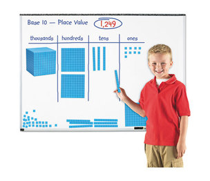 "Giant Magnetic Base Ten Set, 6.75""L x 6.75""H, Blue by LEARNING RESOURCES"