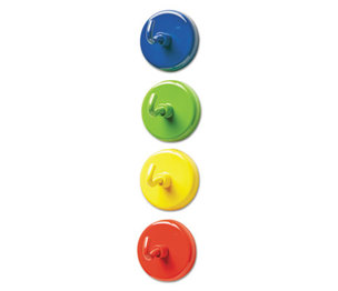 """LEARNING RESOURCES/ED.INSIGHTS LER2694 Super Strong Magnetic Hooks, 1 1/2"""" Diameter, Blue, Green, Red, Yellow, 4/Pack by LEARNING RESOURCES"""