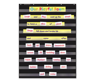 Scholastic 573277 Standard Pocket Charts, 34 x 44, Black/Clear by SCHOLASTIC INC.