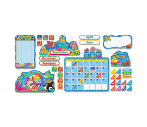 TREND ENTERPRISES, INC. T8306 Sea Buddies Calendar Bulletin Board Set, 17 1/2 x 23, 105 Pieces/Kit by TREND ENTERPRISES, INC.