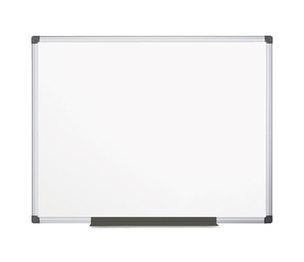 Bi-silque S.A CR1201170MV Porcelain Value Dry Erase Board, 48 x 72, White, Aluminum Frame by BI-SILQUE VISUAL COMMUNICATION PRODUCTS INC