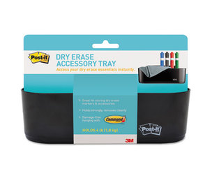 3M DEFTRAY Dry Erase Tray, 8 1/2 x 3 x 5 1/4, Black by 3M/COMMERCIAL TAPE DIV.