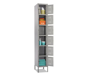 Safco Products 5524GR Box Locker, 12w x 18d x 78h, Two-Tone Gray by SAFCO PRODUCTS