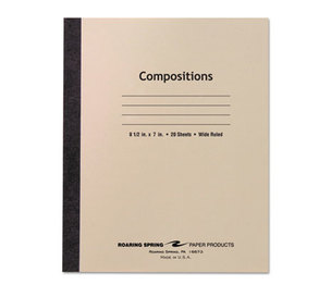 Roaring Spring Paper Products 77340 Stitched Composition Book, Legal Rule, 8-1/2 x 7, WE, 20 Sheets by ROARING SPRING PAPER PRODUCTS