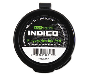 "BAUMGARTENS BAU38010 Fingerprint Ink Pad, 1 1/2"" Diameter, Black by BAUMGARTENS"