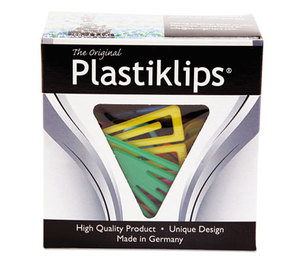BAUMGARTENS BAULP0200 Plastiklips Paper Clips, Small, Assorted Colors, 1,000/Box by BAUMGARTENS