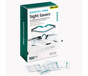 Bausch & Lomb, Inc 8576 Sight Savers Pre-Moistened Anti-Fog Tissues with Silicone, 100/Pack by BAUSCH & LOMB, INC.
