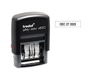 U.S. Stamp & Sign 5006 Trodat Economy Stamp, Dater, Self-Inking, 1 5/8 x 3/8, Black by U. S. STAMP & SIGN