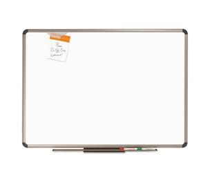 Quartet P563T Euro Frame Premium Porcelain Whiteboard, 36 x 24, Euro Titanium Aluminum Frame by QUARTET MFG.