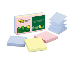 3M R330RP-6AP Recycled Pop-Up Notes Refill, 3 x 3, Helsinki, 6 100-Sheet Pads by 3M/COMMERCIAL TAPE DIV.