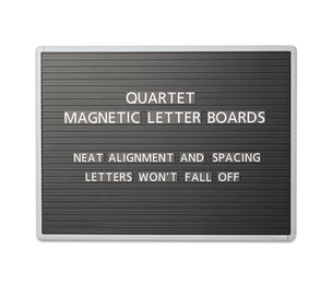 Quartet 903M Magnetic Wall Mount Letter Board, 36 x 24, Black, Gray Aluminum Frame by QUARTET MFG.