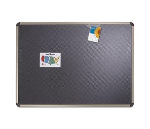 Quartet B367T Euro-Style Bulletin Board, High-Density Foam, 72 x 48, Black/Aluminum Frame by QUARTET MFG.