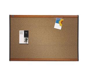 Quartet B247LC Prestige Bulletin Board, Brown Graphite-Blend Surface, 72 x 48, Cherry Frame by QUARTET MFG.