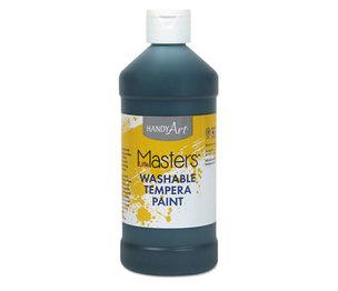 Rock Paint Distribution Corp 211-755 Washable Paint, Black, 16 oz by ROCK PAINT DISTRIBUTING CORP.