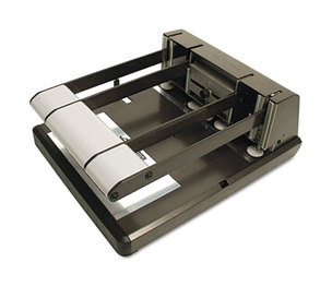 Stanley-Bostitch Office Products 03200 160-Sheet Capacity Xtreme Duty Adjustable Hole Punch, Antimicrobial, BK/Silver by STANLEY BOSTITCH