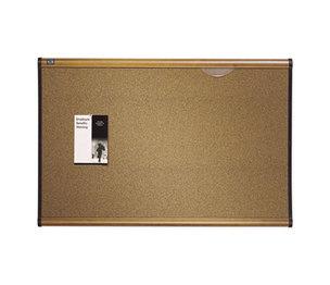 Quartet B247MA Prestige Bulletin Board, Brown Graphite-Blend Surface, 72 x 48, Maple Frame by QUARTET MFG.