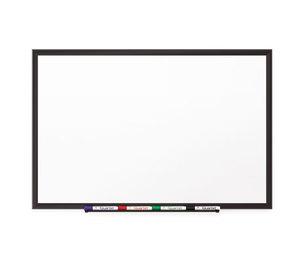Quartet 2545B Classic Porcelain Magnetic Whiteboard, 60 x 36, Black Aluminum Frame by QUARTET MFG.